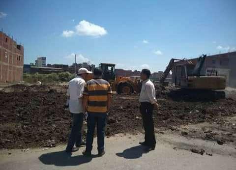 إزالة حالة تعد على مساحة 4500 متر بمنطقة مساكن الزناري في دمياط