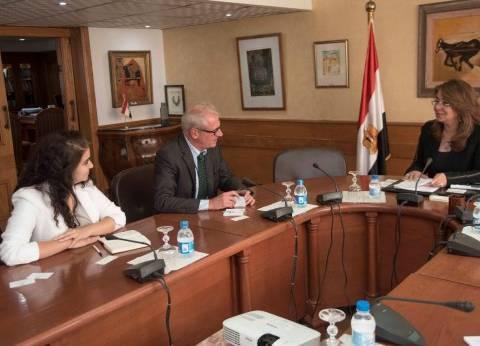 """وزيرة التضامن تبحث مع ممثل """"الدولية للهجرة"""" التمكين الاقتصادي للشباب"""