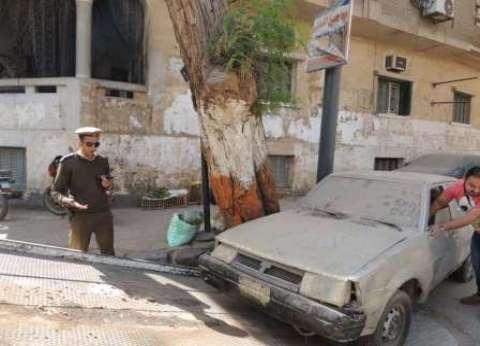 رفع 43 سيارة متروكة في الشوارع والطرق الرئيسية بالقاهرة