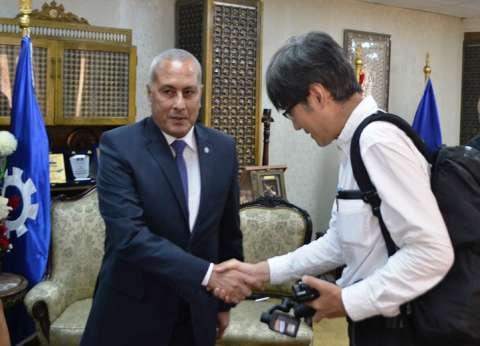 """رئيس """"الأبنية التعليمية"""" يتفقد إنشاءات بالمدرسة اليابانية في السويس"""