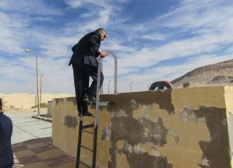 """بالصور.. رئيس مدينة أبورديس يتفقد خزانات محطة مياه الشرب بالكيلو """"11"""""""