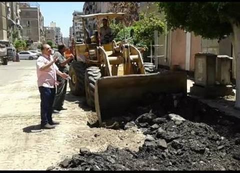 استمرار أعمال النظافة أمام مدارس بورسعيد استعداد للعام الدراسي الجديد
