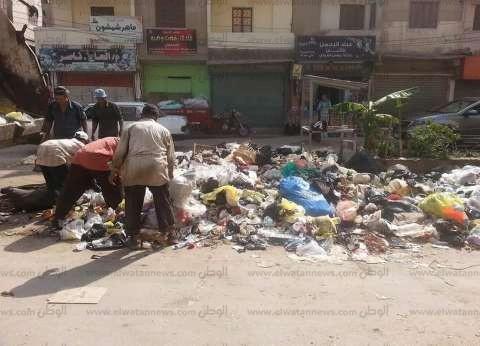 شكاوى من تراكم القمامة والهبوط الأرضي في العصافرة بالإسكندرية
