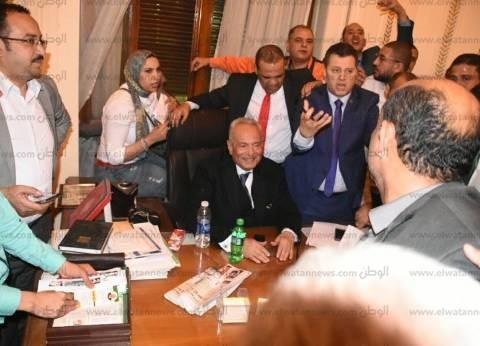 """""""وفد القليوبية"""" يهنئ أبو شقة لفوزه برئاسة الحزب"""