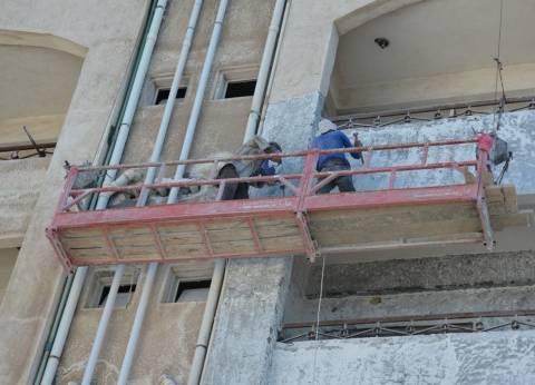 استمرار أعمال صيانة مدن الطلاب في جامعة بورسعيد