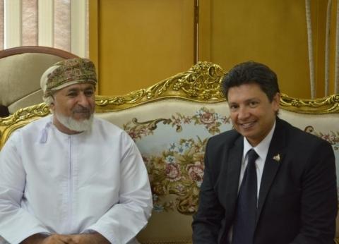 بالصور| رئيس جامعة دمياط يستقبل مفوض الدارسين من سلطنة عمان