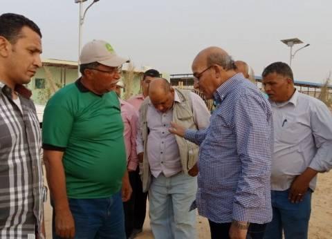 وزير الزراعة يتفقد أعمال مزرعة الـ20 ألف فدان في غرب المنيا