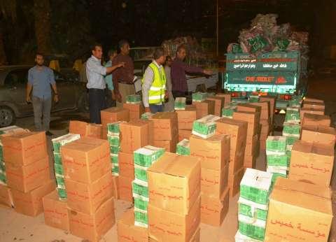 توزيع مواد غذائية ومراتب وبطاطين للأسر المتضررة في حريق الحرجة بسوهاج