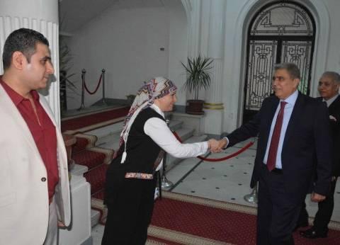 محافظ المنيا الجديد يصل إلى الديوان العام لبدء مهام عمله