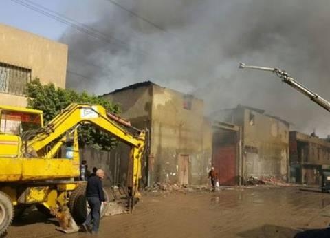 حريق في مصنع بالمنطقة الصناعية بالفيوم