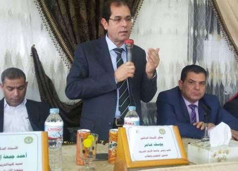 بالصور| نائب رئيس جامعة الأزهر يتفقد فرع كليات تفهنا الأشراف