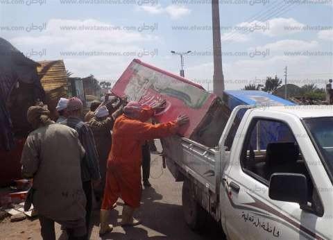 تحرير 14 محضرا في حملة إزالات بمطروح