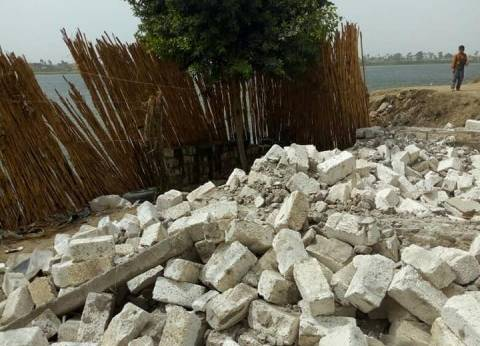 """""""حماية النيل"""": إزالة تعديات تشغل 350 متر مربعاً بأسيوط"""