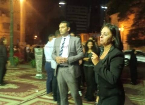 مايا مرسي تقدم واجب العزاء في حفيد سيد مكاوي