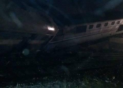 تعافي 40 مصابا من حادث انقلاب قطار بني سويف
