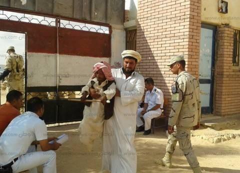 إقبال ذوي الاحتياجات الخاصة على اللجان الانتخابية في الشيخ زويد