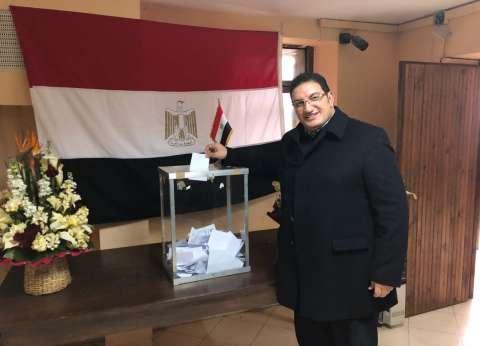 """وفد"""" المصرية - المغربية"""" يدلي بصوته في انتخابات الرئاسة بالرباط"""