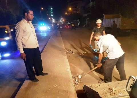 حملة نظافة لشوارع مدينة أخميم بسوهاج