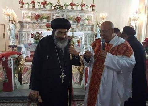 بالصور| مطرانية الأقباط الأرثوذكس في بورسعيد تهنئ الكنيسة الكاثوليكية بعيد الميلاد