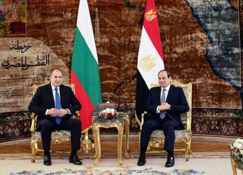 الرئيس البلغاري يشيد بجهود مصر في إعادة الأمن والاستقرار للشرق الأوسط