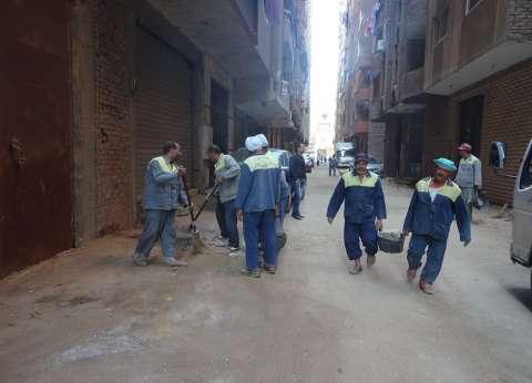 حملة نظافة لرفع كفاءة شوارع بالهرم