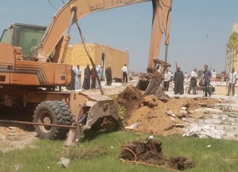 إزالة 122مخالفة ري و106 حالات تعد بالبناء على أراضي زراعية بالفيوم