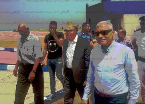 محافظ جنوب سيناء يتفقد أعمال تطوير شارع الكورنيش بمدينة الطور