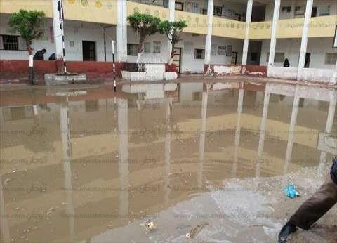 مدارس الإسكندرية خالية من التلاميذ بسبب سوء الأحوال الجوية