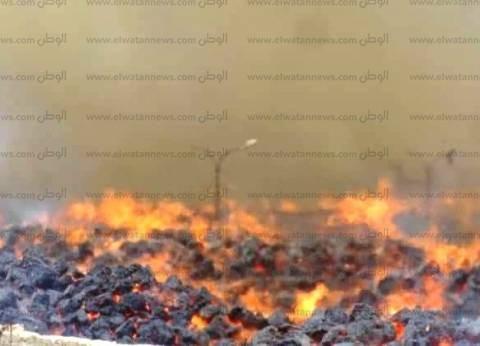 فريق الرقابة الإدارية يصل إلى موقع حريق مصنع خشب الحبيبي بكوم أمبو