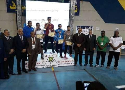 جامعة أسوان تحصد المركز الثاني في «المصارعة» بأسبوع شباب الجامعات
