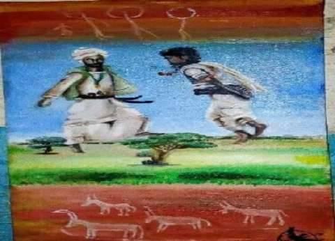 «آمنة» تُحيى تراث «الشلاتين» بلوحة «رقصة الباقريب»