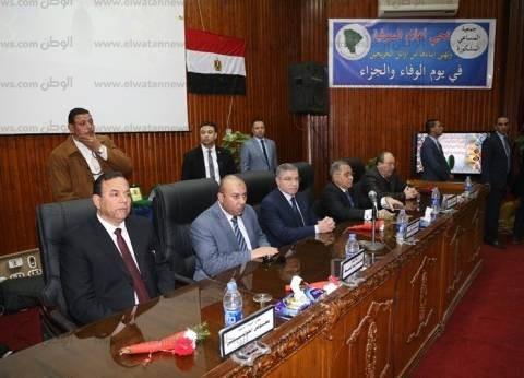 """وزير التموين ومحافظ المنوفية يشهدان احتفالية """"يوم الوفاء والجزاء"""""""