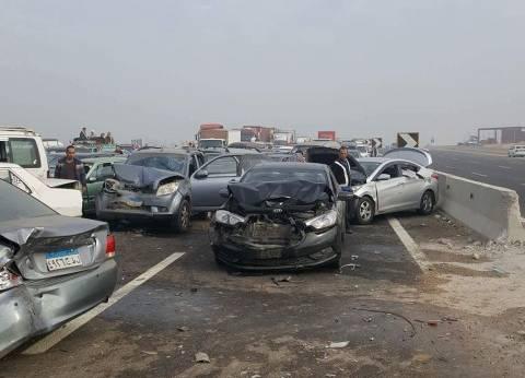 مصرع شخصين وإصابة 6 في حادث تصادم بسوهاج
