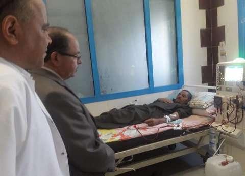 """زيارة مفاجئة لوكيل """"صحة المنوفية"""" لمستشفى سرس الليان العام"""