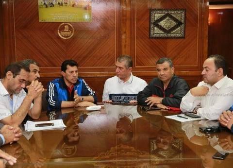 بالصور| محافظ كفرالشيخ يستقبل وزير الشباب للمشاركة بمارثون رياضي