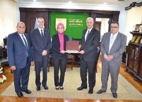 جامعة الإسكندرية تكرم الطالبة المثالية في كلية الطب البيطري