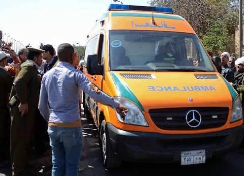 إصابة 13 شخصا إثر تصادم سيارة نقل بميكروباصين بطوخ