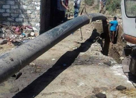 إحلال وتجديد خط المياه المغذي لعدد من قرى مركز كفر سعد