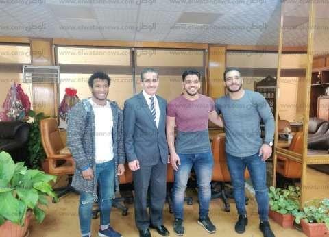 جامعة القناة تكرم الطلاب الفائزين ببطولة أفريقيا للمصارعة في تونس