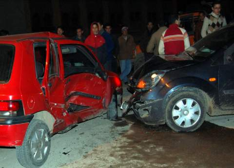 """مصرع 3 أشخاص من أسرة واحدة في حادث مروري بـ""""صحراوي بني سويف"""""""