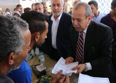 محافظ دمياط يفتتح الموقف العمومي الجديد بكفر سعد