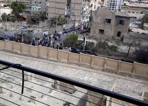 بعد نجاته.. مدير أمن الإسكندرية يتابع تمشيط موقع الحادث الإرهابي