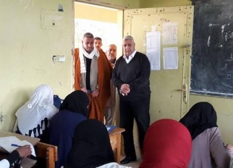 رئيس مدينة الزينية بالأقصر يتفقد لجان امتحانات النقل