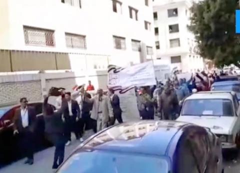 بالفيديو| مسيرة حاشدة في شوارع السيدة زينب لتأييد التعديلات الدستورية
