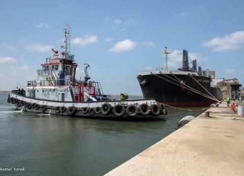 16 سفينة بالمخطاف الخارجي لميناء دمياط في انتظار إتمام إجراءات الدخول