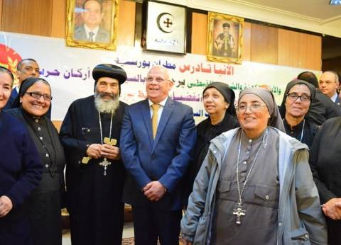 محافظ بورسعيد يشارك الأقباط في الاحتفال بعيد القيامة بالكنائس