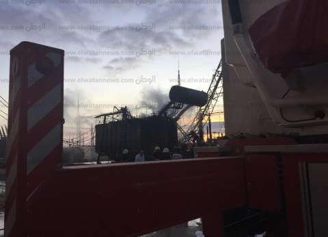 النيابة العامة تعاين موقع حريق محطة محولات كهرباء مطروح