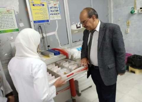 مدير الطب العلاجي يتفقد مستشفي حميات فاقوس