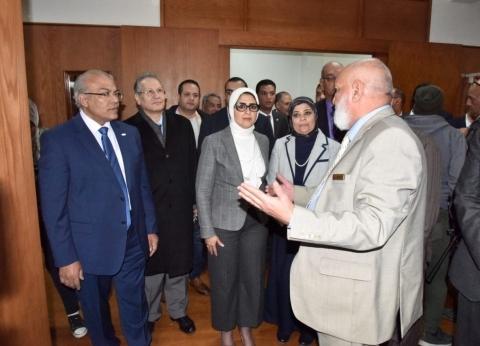"""وزيرة الصحة تتفقد مستشفى """"قناة السويس"""" بالإسماعيلية.. وتشيد بالخدمة"""