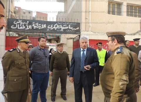 بالصور| مدير أمن الغربية يتفقد اللجان الانتخابية بالمحافظة